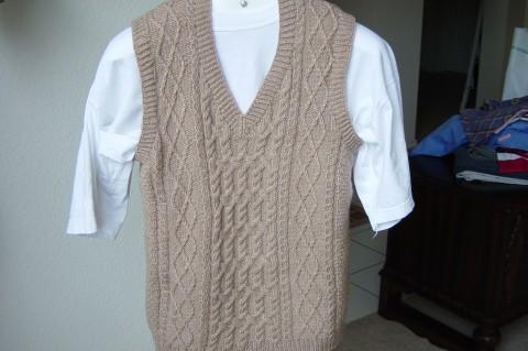 Aran Knitting Gallery Alpaca Cable Vest Circa 1995